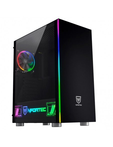 Nfortec Caronte PRO RGB Tempered Glass Gaming Case
